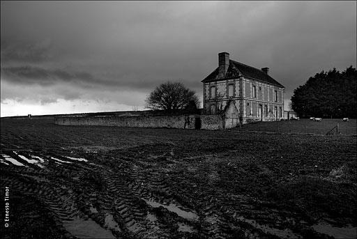 boue, champs, grange, normandie