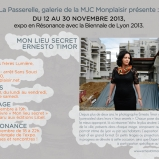 Mon lieu secret, Résonance à la Biennale, Lyon 8e, 2013