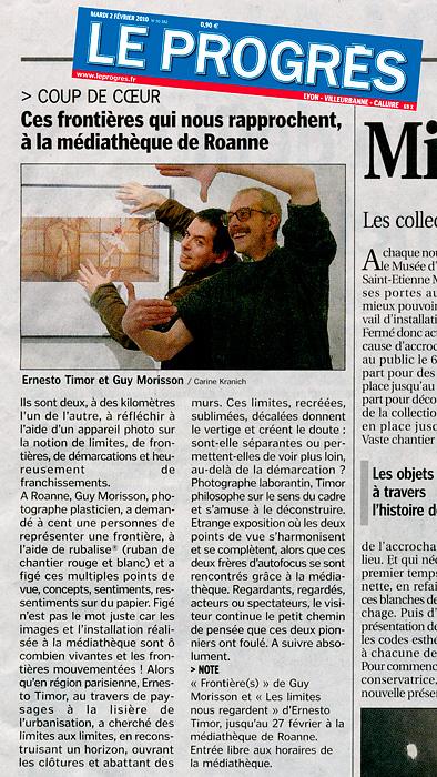 Roanne, janvier-février 2010 : annonce et traces !
