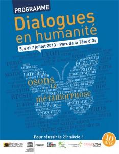 Dialogues en humanité, le programme 2013